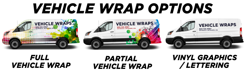 Moseley Vehicle Wraps vehicle wrap options