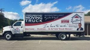 custom moving truck wrap